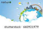 eco and nature concept template.... | Shutterstock .eps vector #660921979