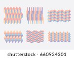 geometric colorful blocks... | Shutterstock .eps vector #660924301