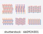 geometric colorful blocks... | Shutterstock .eps vector #660924301