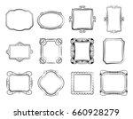 vintage doodle picture frames ... | Shutterstock . vector #660928279