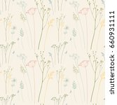 floral pattern with dill or... | Shutterstock .eps vector #660931111