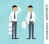business characters.... | Shutterstock .eps vector #660933871