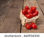 Fresh Organic Grape Tomatoes On ...