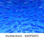 global communication, blue 3d background - stock photo