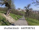 spring prague gothic castle... | Shutterstock . vector #660938761