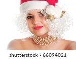 christmas woman in santa hat | Shutterstock . vector #66094021