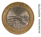 Small photo of British Two Pound Coin - Florence Nightingale Design