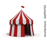 stylized circus tent  isolated... | Shutterstock . vector #66094702