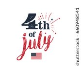 4th of july. usa independence... | Shutterstock .eps vector #660948541