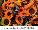 colorful bouquet of red... | Shutterstock . vector #660950089