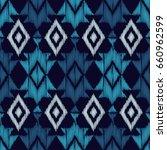 ethnic boho blue seamless... | Shutterstock .eps vector #660962599