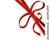 christmas red corner ribbon... | Shutterstock .eps vector #66096394