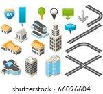 map toolkit with isometric... | Shutterstock .eps vector #66096604
