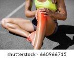 low section of sportswoman... | Shutterstock . vector #660966715