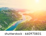 top view of a river  in the... | Shutterstock . vector #660970831