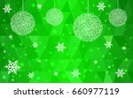 light green vector christmas... | Shutterstock .eps vector #660977119