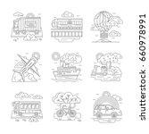passenger and cargo transport.... | Shutterstock .eps vector #660978991