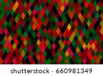 dark multicolor  rainbow vector ... | Shutterstock .eps vector #660981349