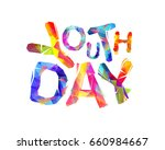 youth day. vector inscription... | Shutterstock .eps vector #660984667