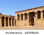 the entrance to philae temple... | Shutterstock . vector #66098644