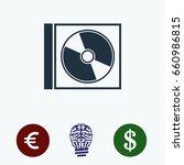 cd icon  stock vector... | Shutterstock .eps vector #660986815