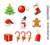 set christmas icon. | Shutterstock . vector #66098860