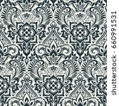 vector damask seamless pattern | Shutterstock .eps vector #660991531
