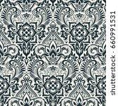 vector damask seamless pattern | Shutterstock .eps vector #660991531