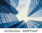 business and finance centerwith ... | Shutterstock . vector #660991669