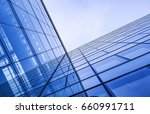 office building in blue tones   ... | Shutterstock . vector #660991711