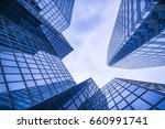 business and finance centerwith ... | Shutterstock . vector #660991741