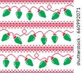 tree lights seamless pattern ... | Shutterstock .eps vector #660992071