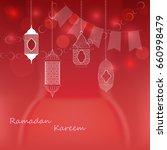 vector illustration of ramadan... | Shutterstock .eps vector #660998479