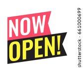 now open  vector flat... | Shutterstock .eps vector #661000699