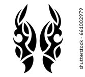 tattoo tribal vector design....   Shutterstock .eps vector #661002979