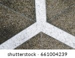 Texture Of Gravel  Pavement...