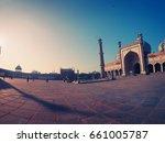 delhi  india. square and jama... | Shutterstock . vector #661005787
