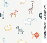 seamless pattern with cute... | Shutterstock .eps vector #661005991