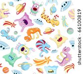 vector seamless background with ... | Shutterstock .eps vector #66100819