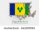vector flag measurements with... | Shutterstock .eps vector #661009081