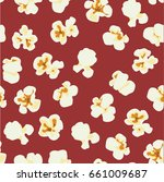 seamless pattern with popcorn | Shutterstock .eps vector #661009687