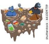 vector illustration of fish... | Shutterstock .eps vector #661009759
