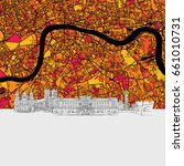 london skyline map  modern... | Shutterstock .eps vector #661010731