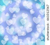 blue heart bokeh  pattern ...   Shutterstock .eps vector #661012567