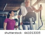 senior man exercising on... | Shutterstock . vector #661013335