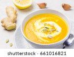 pumpkin soup puree and...