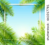summer time background with... | Shutterstock .eps vector #661017781