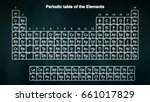 complete periodic table of the... | Shutterstock . vector #661017829