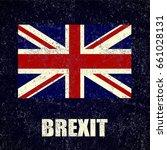 united kingdom brexit chalk... | Shutterstock .eps vector #661028131