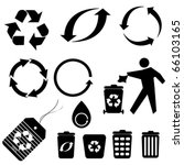 Various Recycling Symbols And...